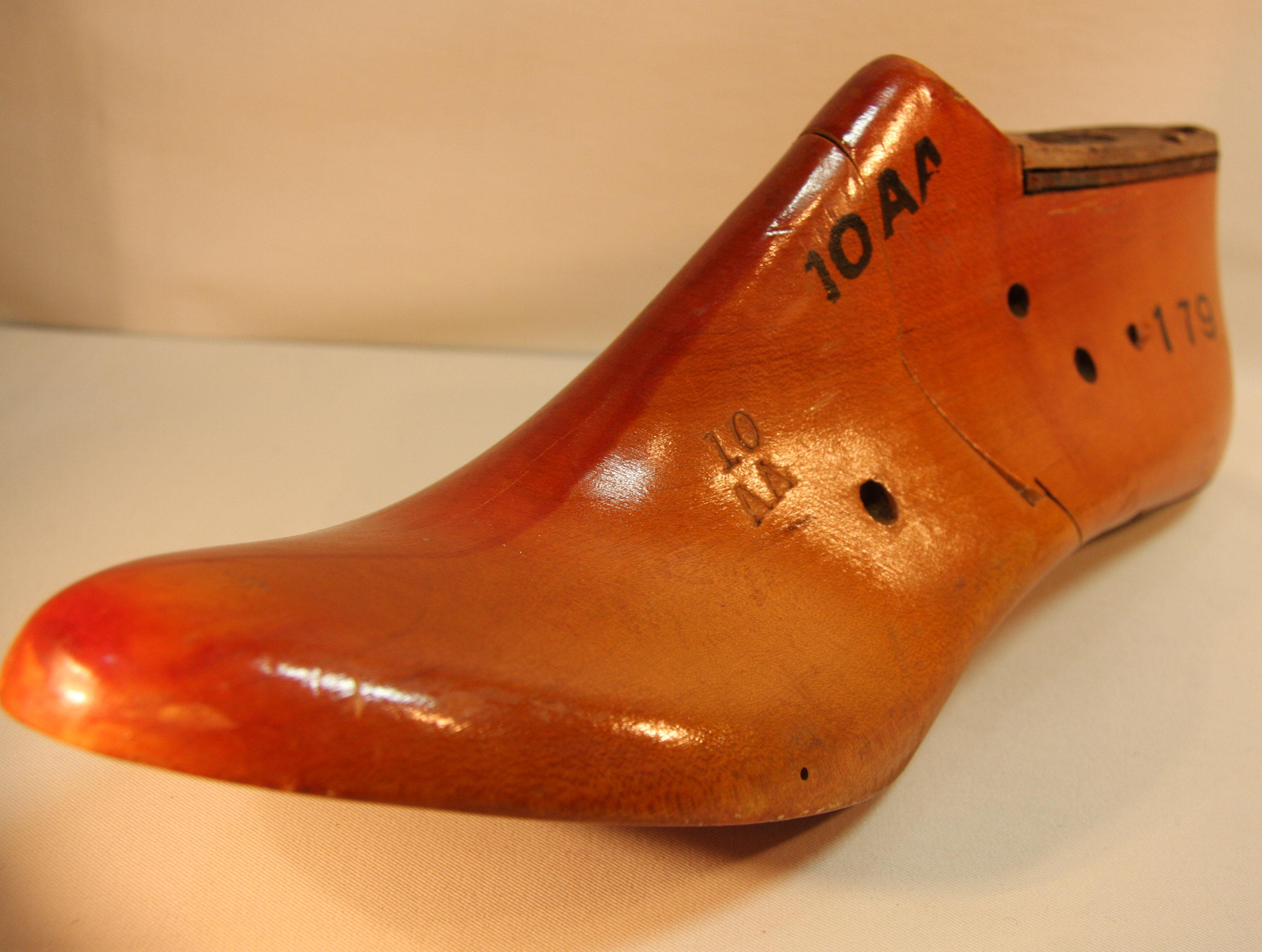 アメリカ アンティーク 木製 紳士靴型 片足 サイズ10AA 【AW1029】