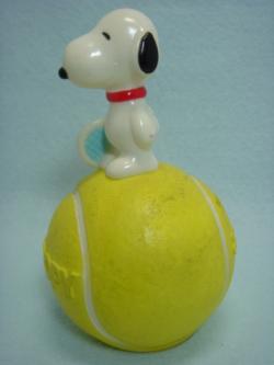 三和銀行 テニスボールに乗ってるスヌーピー ソフ... 拡大表示 三和銀行 テニスボールに乗って