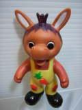 ニッコー おはよう!こどもショー ロバくん ソフビ人形 8.2cm 当時物 現状 【TO2888】