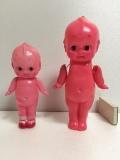セルロイド ピンク キューピー 人形 18.8cm 当時物 JAPAN 現状 【TO4159】
