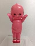 セルロイド ピンク キューピー 人形 14.8cm 当時物 JAPAN 現状 【TO4160】