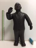 リアル顔☆田中角栄 元内閣総理大臣 ソフビ人形 大型 35.3cm 835g 当時物 JAPAN 現状 詳細不明 【TO4259】
