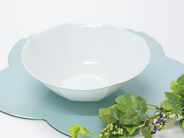 【和食器通販】陶房青専門ショップAo 波佐見焼 吉村陶苑 白磁 八角大鉢 鉢