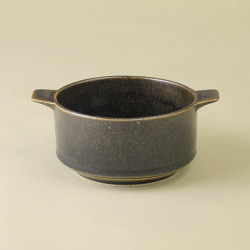 黒 耳付スープカップ|陶房青・和食器