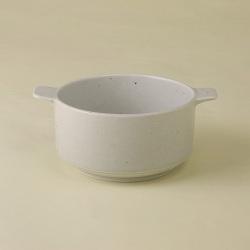 白 耳付スープカップ|陶房青・和食器