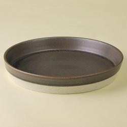 黒 パン皿|陶房青・和食器