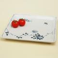野ばら 角大皿|陶房青・和食器