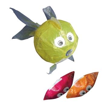 紙フーセン 金魚1号(3色セット) 1セット