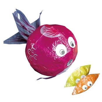 紙フーセン 金魚4号(3色セット) 1セット