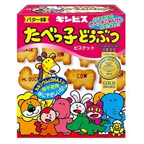 ギンビス (箱)たべっ子どうぶつ バター味63g 10入