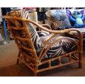 No.15308 オールド・ハワイアンデザインの籐家具・1人掛けOld Oahuアームソファ