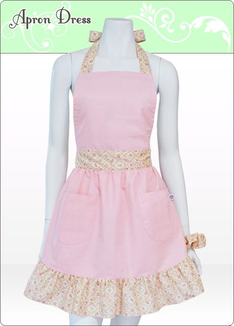 [完売御礼]ピンク可憐フラワー おしゃれエプロンドレス(シュシュ付き)