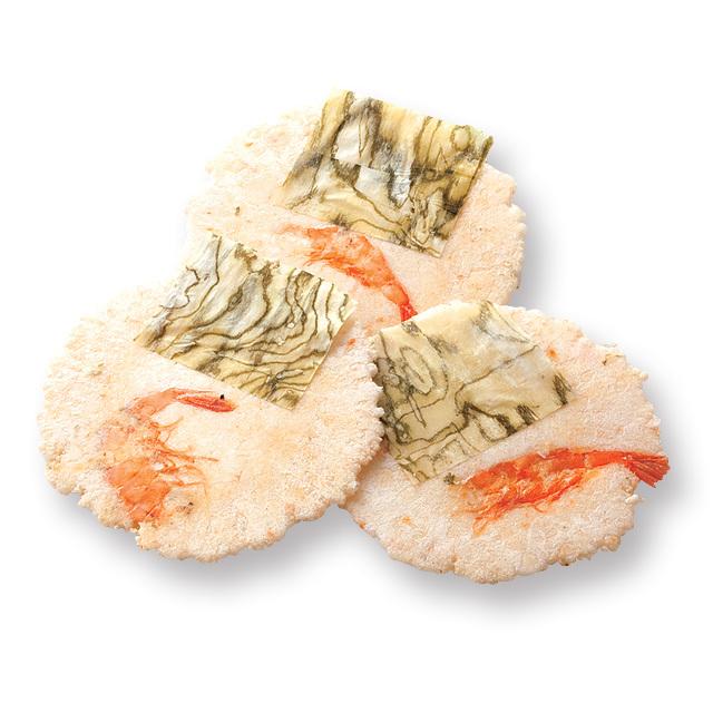 海老せんべい昆布巻き