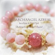 天然石 パワーストーン|インカローズ ピンクオパール 大天使 アズラエル オーラソーマ ブレスレット