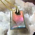 天然石 パワーストーン|ピンク ラブラドライト ペンダント