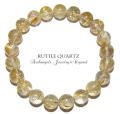 オリジナル・ブレス「ルチルクォーツ」. rutile quartz bracelet