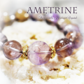 天然石 パワーストーン|アメトリン シトリン アメジスト 一連ブレス ブレスレット