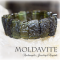 天然石 パワーストーン| モルダバイト レアクリスタル 隕石 ブレスレット