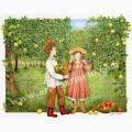 遠藤あんりの版画「青リンゴ赤リンゴ」