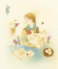 蓮田千尋の原画「にわとり」