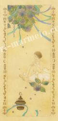 蓮田千尋の原画「紫陽花」