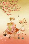 蓮田千尋の原画「春のお祭り」