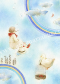 蓮田千尋の原画「水辺」