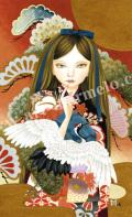 HIGU011b松と鶴