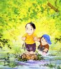 開田風童の色紙アートプリント「得意顔」