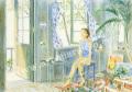 北沢優子の版画「透明な一日」