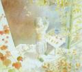 北沢優子の版画「秋色」