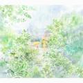 北沢優子の版画「雨の庭」