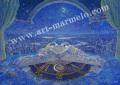 待井健一の版画「青い夜」、版画の通販専門店アート・マルメロ