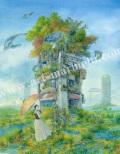 待井健一の版画「緑の園」、版画の通販専門店アート・マルメロ