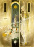 牧野鈴子の版画「夢の扉」