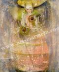 「13番目の魔女 ねむり姫」牧野鈴子の版画