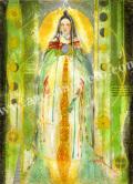 「月の都の人 かぐや姫」牧野鈴子の版画