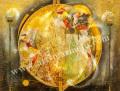 「十五夜 かぐや姫」牧野鈴子の版画