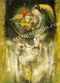 「誘惑 白雪姫」牧野鈴子の版画
