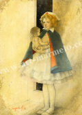 「Girlやさしくなりたかった」牧野鈴子の版画