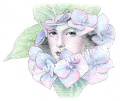 松原健治の版画「アジサイ」