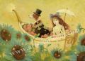 目黒直子の版画「未来の思い出」