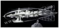 中村豪志の版画「巡航する街」