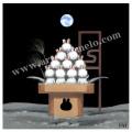 中村豪志の版画「月のうさぎ」