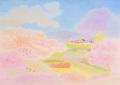 大西秀美の版画「さくらのころ」