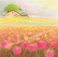大西秀美の版画「おやつの時間」
