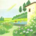 大西秀美の版画「小さな庭」、版画の通販専門店アート・マルメロ