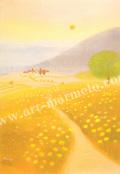 大西秀美の版画「ののはなのこみち」、版画の通販専門店アート・マルメロ