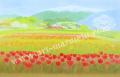 大西秀美の版画「はるいっぱい」、版画の通販専門店アート・マルメロ