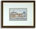 安野光雅のポストカード額装「Haarlem」額装